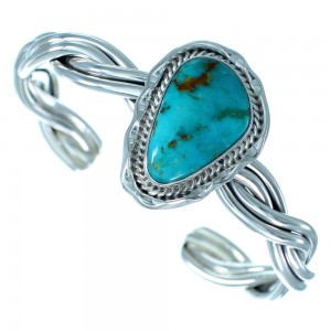 Navajo Turquoise And Sterling Silver Cuff Bracelet SX112471
