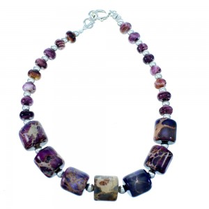 Purple Oyster Shell And Magenta Turquoise Bead Bracelet RX112710