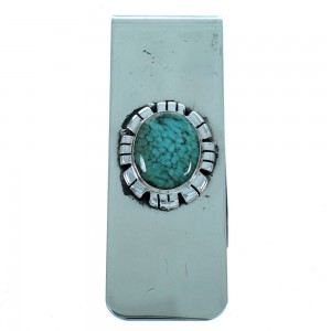 Southwest Sterling Silver And Turquoise Money Clip SX112990