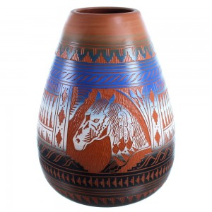 Navajo Horse Pottery Hand Crafted By Ernest Watchman SX113573