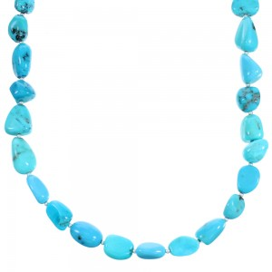 Turquoise Coral Authentic Sterling Silver Bead Necklace RX114260