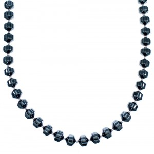 Sterling Silver Hematite Bead Necklace RX114380