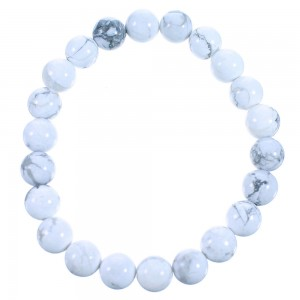Howlite Southwest Stretch Bead Bracelet RX114314