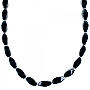 Southwestern Onyx Sterling Silver Bead Necklace SX114606