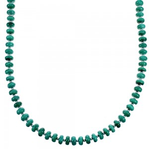 Malachite And Sterling Silver Southwest Bead Necklace RX114716