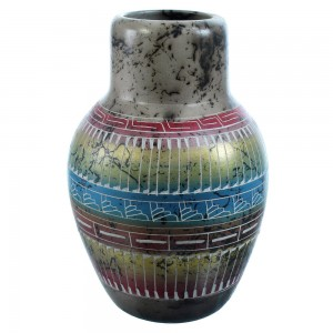 Navajo Horse Hair Hand Crafted Pot By T. Whitegoat SX115393
