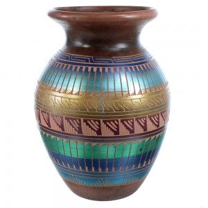Navajo  Horse Hair Hand Crafted Pottery By Yazzie SX115389