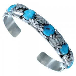 Sterling Silver Turquoise Zuni Indian Cuff Bracelet ZX116906