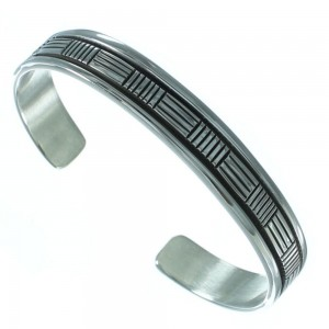 Authentic Sterling Silver Indian American Cuff Bracelet EA118204