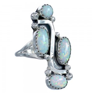 Opal Sterling Silver Native American Ring Size 6-3/4 BX119090