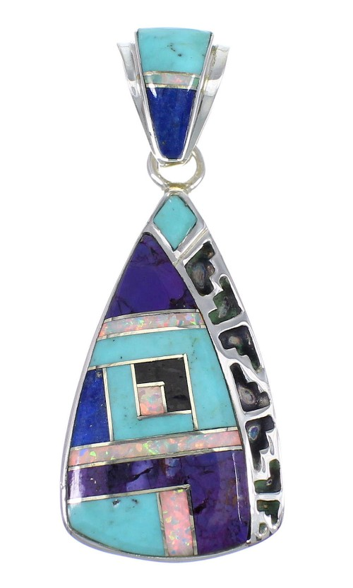Multicolor And Sterling Silver Southwestern Pendant YX67823