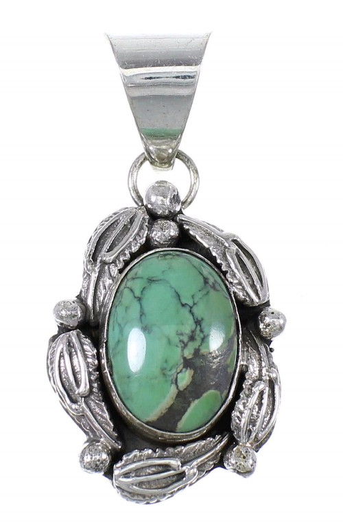 American Indian Turquoise And Sterling Silver Pendant WX69573