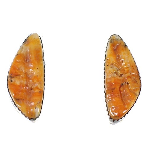 Navajo Indian Silver And Oyster Shell Post Earrings YX73568