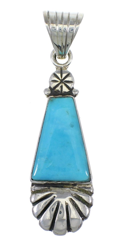 Turquoise Sterling Silver Pendant AX78380