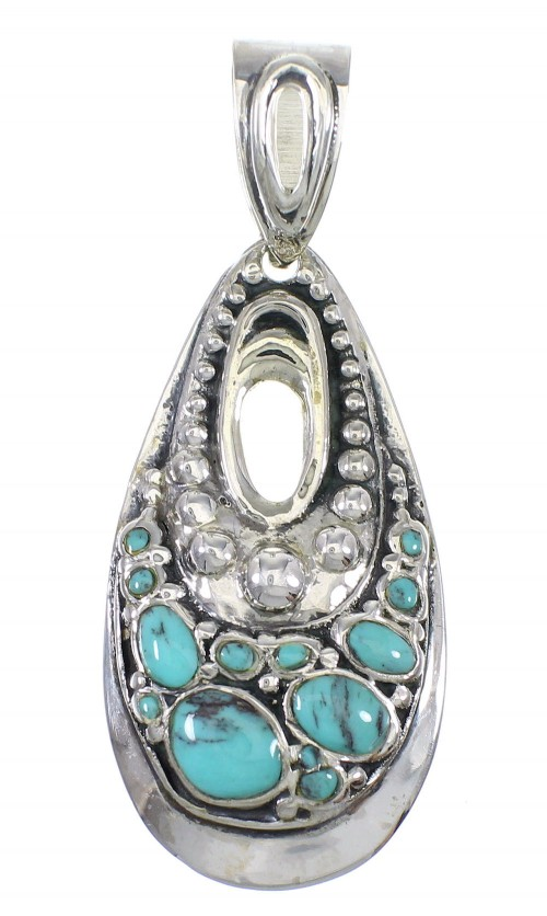 Genuine Sterling Silver Turquoise Pendant AX78466