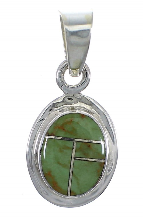 Silver Turquoise Southwestern Pendant AX78692