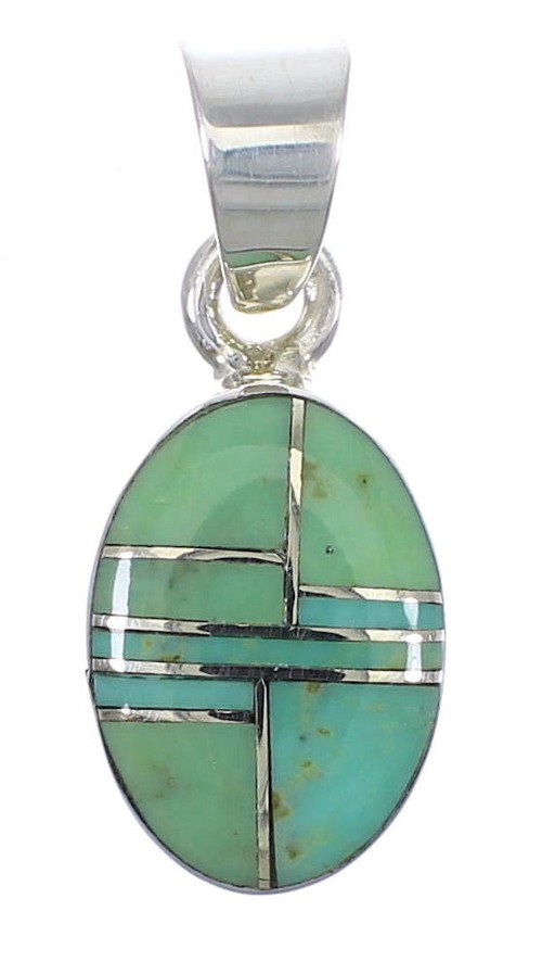 Silver Turquoise Slide Pendant AX79178