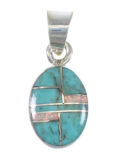 Sterling Silver Turquoise Opal Jewelry Pendant AX76565