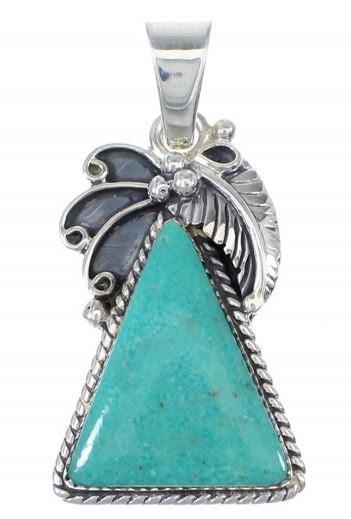 Southwestern Turquoise Sterling Silver Pendant YX77331
