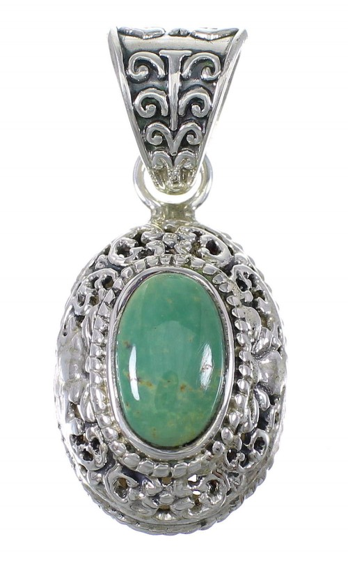 Southwest Silver And Turquoise Pendant YX77359