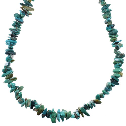 Southwest Silver And Turquoise Bead Necklace YX76669