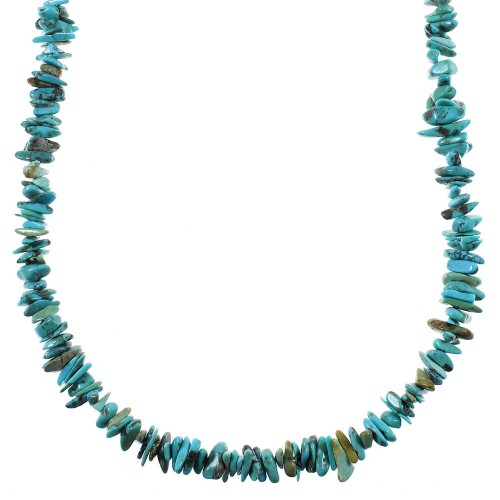 Southwestern Silver And Turquoise Bead Necklace YX76672