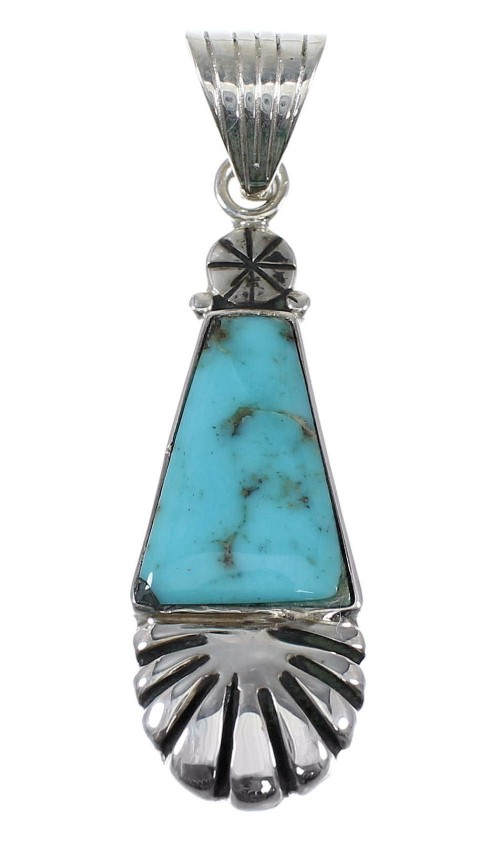 Authentic Sterling Silver Turquoise Pendant RX82198