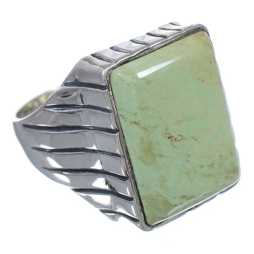 Turquoise Sterling Silver Southwestern Ring Size 11-3/4 QX85481