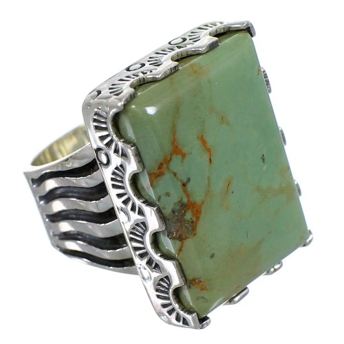 Sterling Silver Southwestern Turquoise Ring Size 6 QX85502