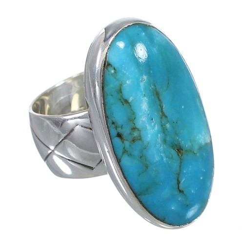 Sterling Silver And Southwest Turquoise Ring Size 5-3/4 AX84149