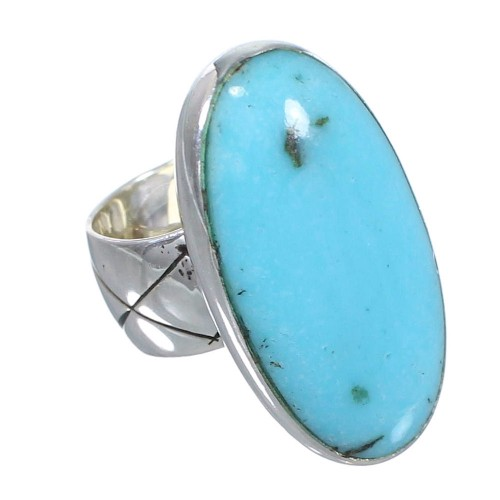 Turquoise Genuine Sterling Silver Jewelry Ring Size 4-3/4 AX84186