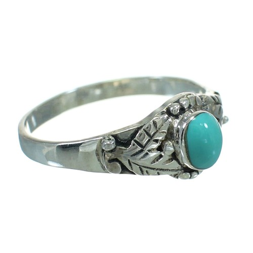 Turquoise Silver Southwestern Ring Size 7-1/4 QX84480