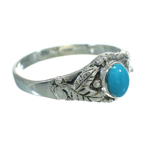 Turquoise Southwest Sterling Silver Ring Size 7-1/4 QX84493
