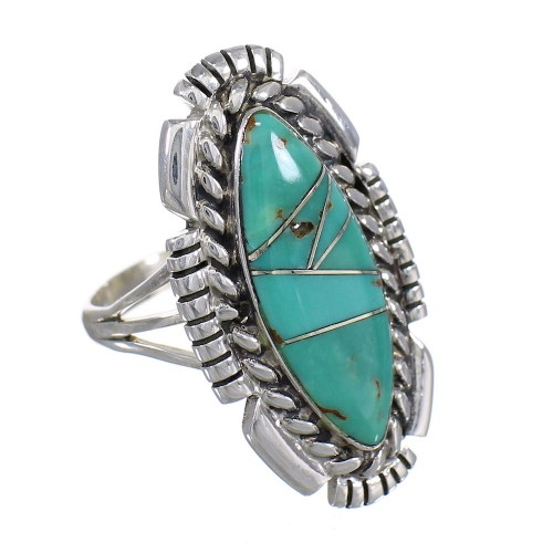 Turquoise Sterling Silver Southwest Ring Size 7-1/4 YX86432