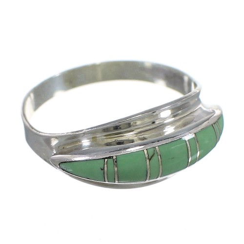 Turquoise Genuine Sterling Silver Southwest Ring Size 4-1/2 QX84212