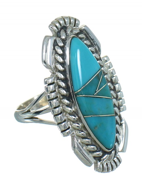 Turquoise Silver Southwestern Ring Size 5-1/2 QX85115