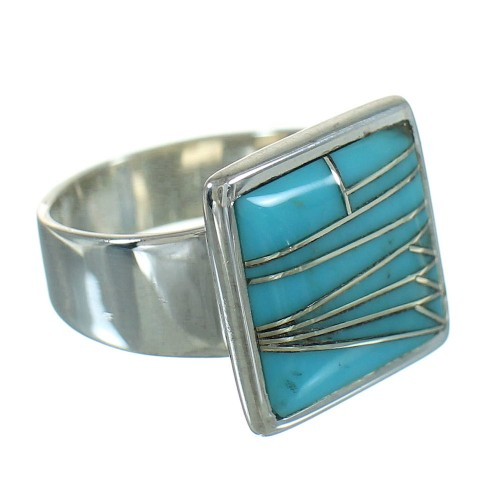 Turquoise Southwest Authentic Sterling Silver Ring Size 6-1/2 QX85246