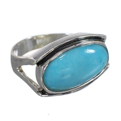 Authentic Sterling Silver Turquoise Southwest Ring Size 8-3/4 QX83796