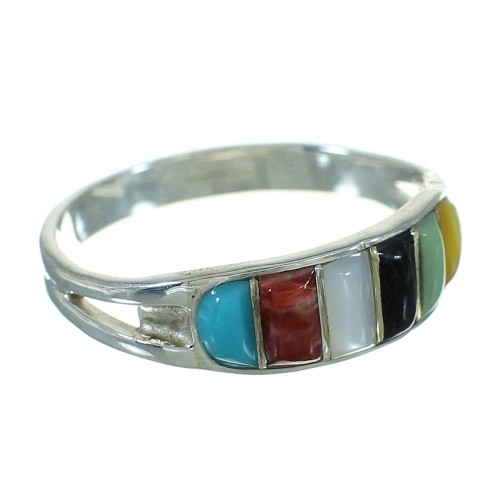 Sterling Silver Multicolor Southwestern Ring Size 6 YX83482