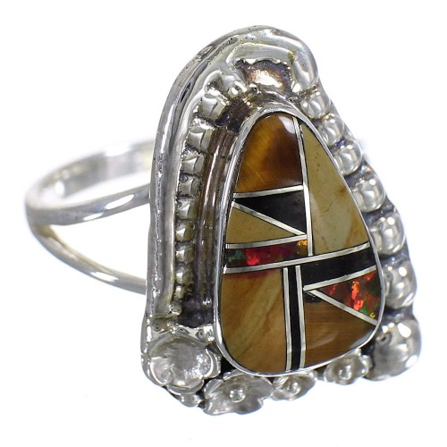 Multicolor Genuine Stering Silver Ring Size 5 RX84129