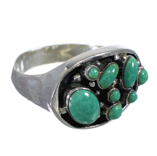 Southwest Turquoise And Authentic Sterling Silver Ring Size 6 YX84540