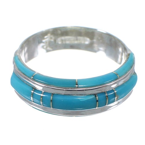 Turquoise Silver Southwest Ring Size 8-1/2 AX86744