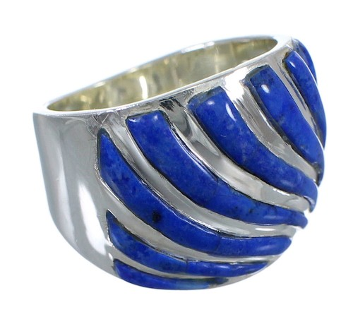 Authentic Sterling Silver Lapis Ring Size 6 RX92182