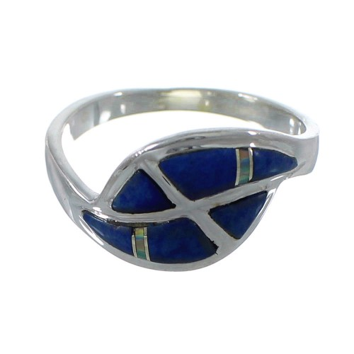 Genuine Sterling Silver Lapis Opal Inlay Ring Size 6-1/4 RX92335