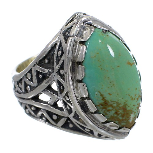 Turquoise And Sterling Silver Southwest Ring Size 7 RX92891