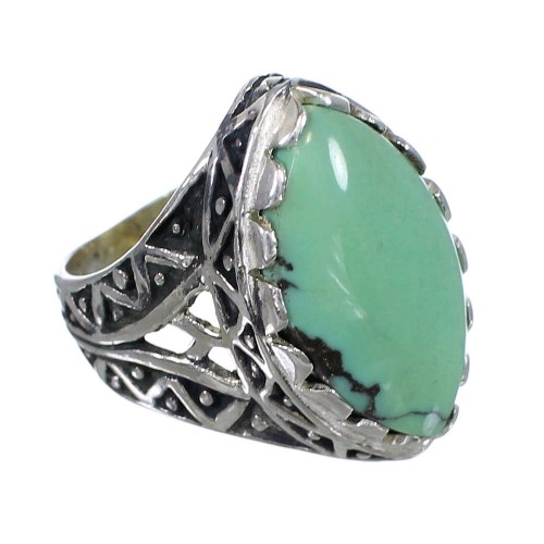 Turquoise Authentic Sterling Silver Ring Size 6 RX92916
