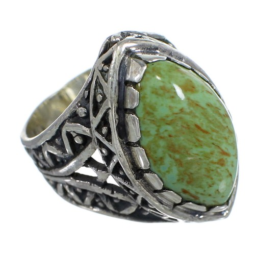 Authentic Sterling Silver And Turquoise Ring Size 7-1/2 RX93022