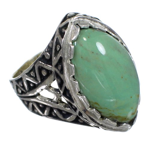 Southwest Genuine Sterling Silver Turquoise Ring Size 7 RX93065