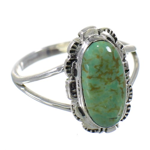 Sterling Silver Turquoise Southwest Jewelry Ring Size 5-1/4 FX92947