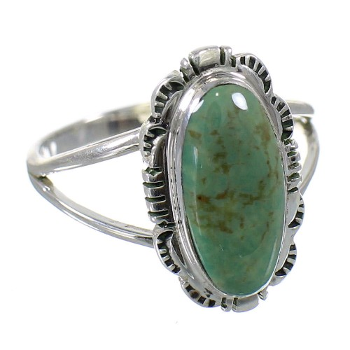 Southwest Sterling Silver Turquoise Jewelry Ring Size 4-1/2 FX93031